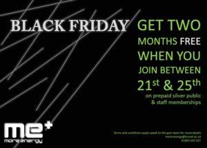 black friday sale at More Energy Brunel